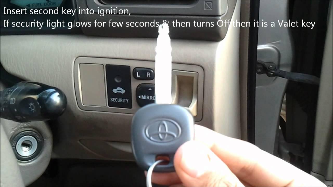 Toyota Master Amp Valet Key Youtube