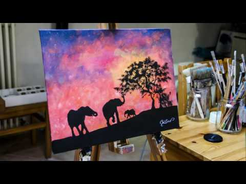 African Sunset glow in the dark by Crisco Art