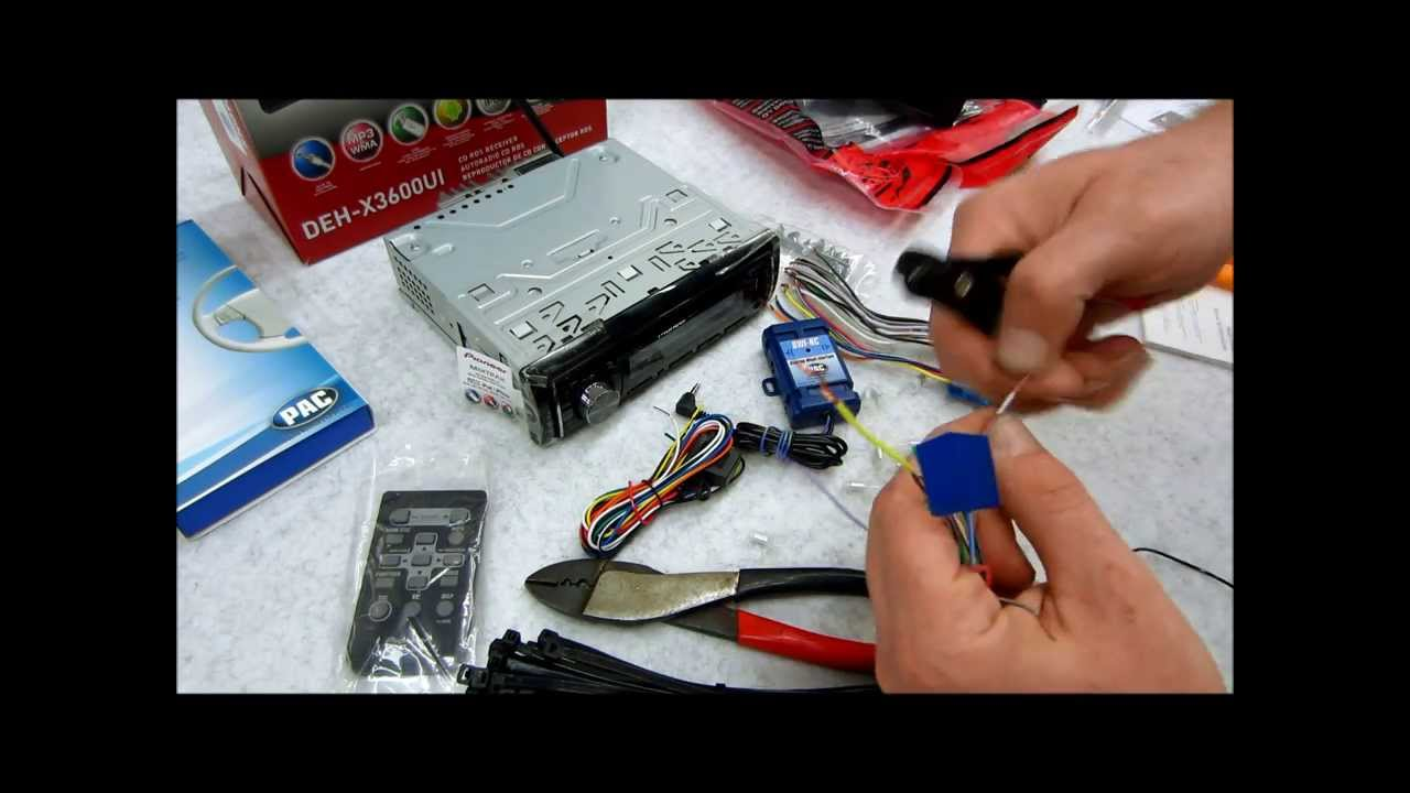 How To Wire Up And Prep A New Radio Dash Kit Harness Steering Head Unit Wiring Diagram 2001 Camaro Wheel Adapter Youtube