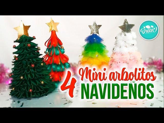 DIY Mini arbolitos navideños parte 1  DREEN NAVIDAD