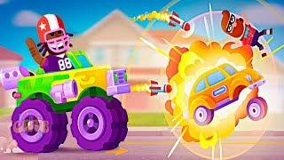 БИТВА МАШИН новая игра для маленьких детей #1 игровой мультфильм 2019 Racemasters Clash of Cars