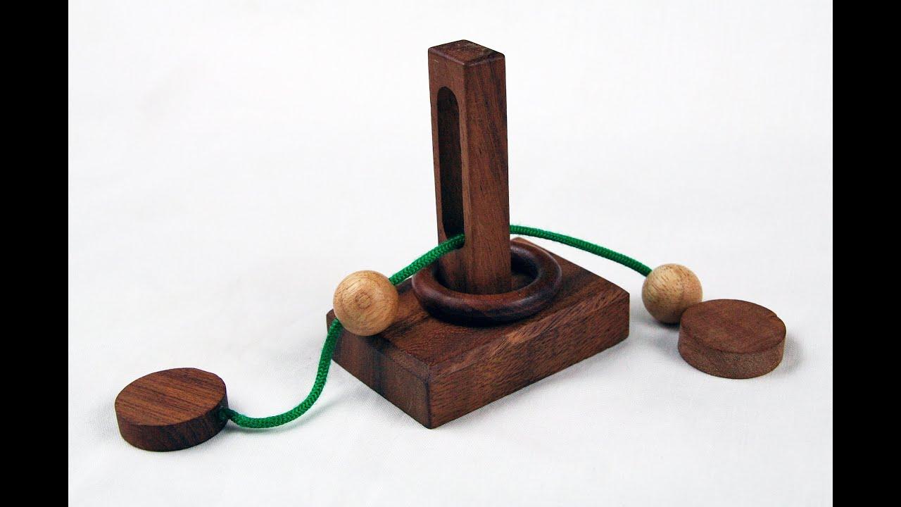 Denkspiel Befrei den Ring Knobelspiel Geduldspiel