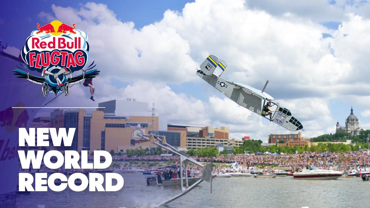 World record flight at Red Bull Flugtag Minneapolis St Paul 2010