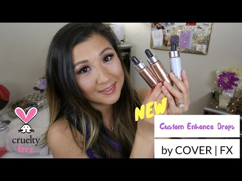 NEW Cover FX Enhance Drops Demo & Review | leecestylz