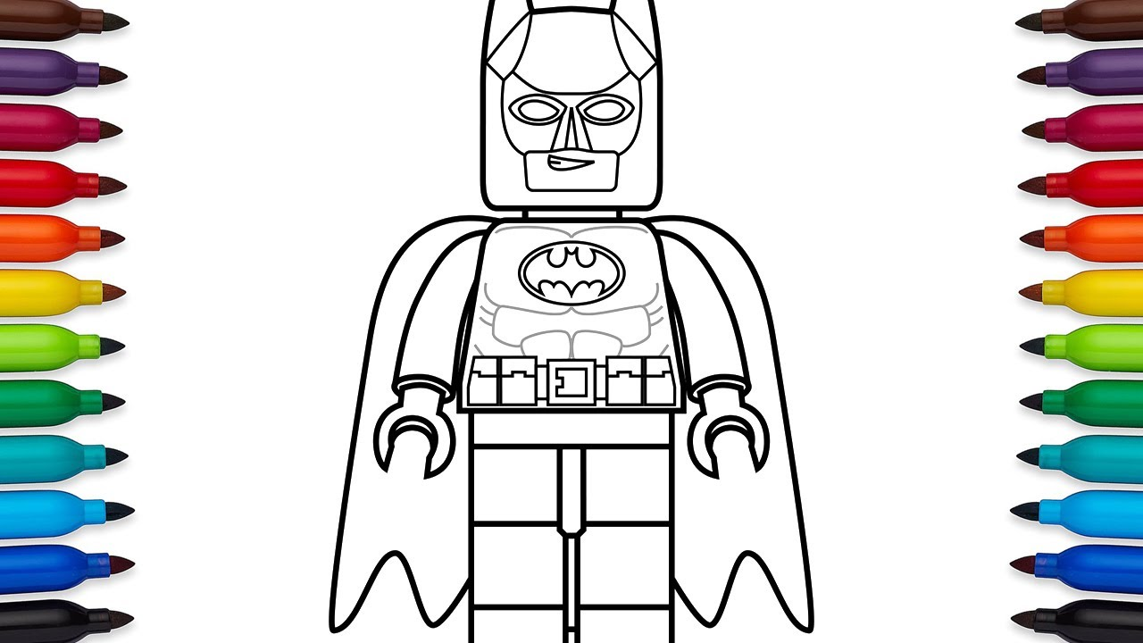 how to draw lego batman coloring pages youtube