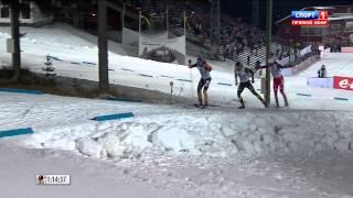 Biathlon Ostersund 2014 - Spectacular FINISH! (Fourcade - Schempp - Birkeland)