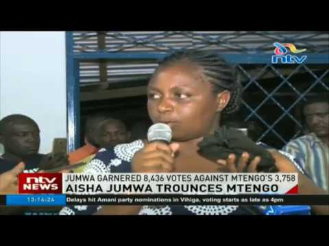 Aisha Jumwa trounces Mtengo to clinch Malindi MP ODM ticket