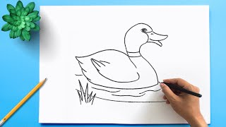 How To Draw a Duck ✅  Duck Drawing Step by Step easy