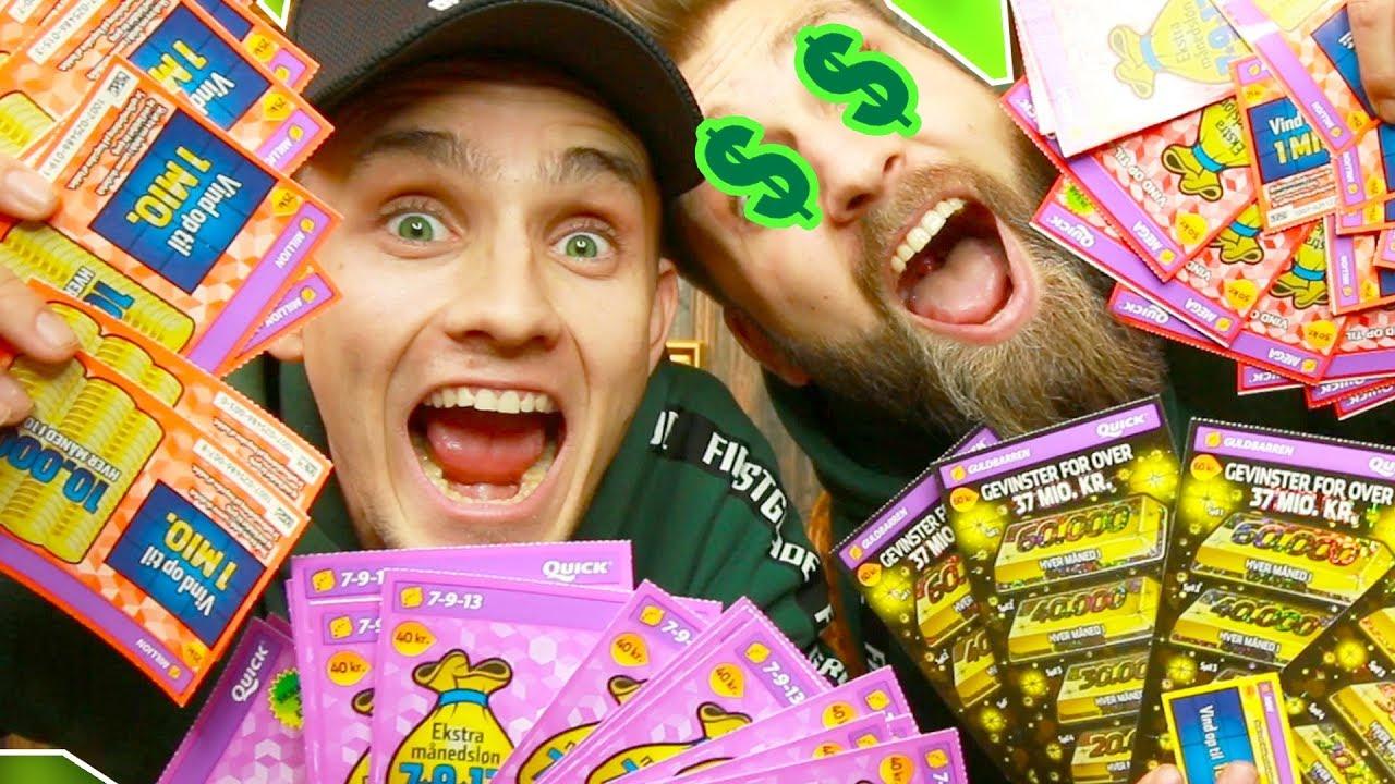 Vi brugte 2000,- på skrabelodder, og vandt.....