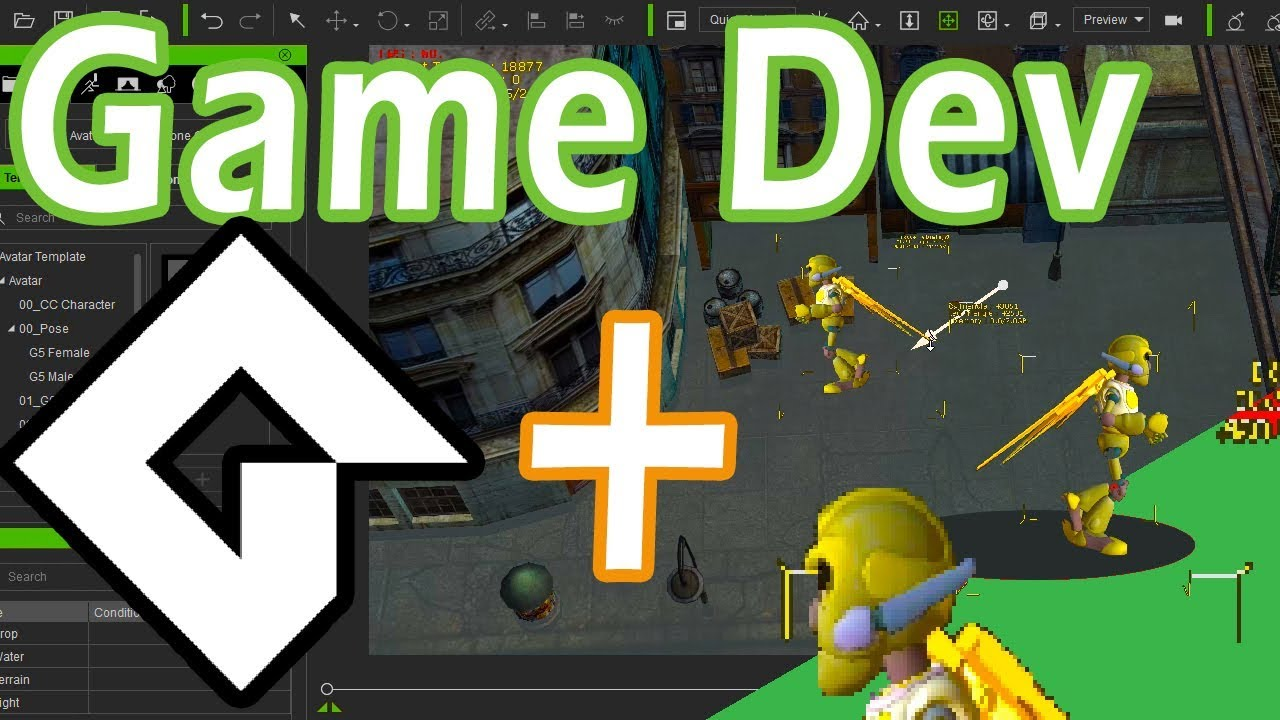 Game Maker Studio 2 - Basic movement - no coding (3D Sprites) Dnd Drag and  drop (iClone 7)