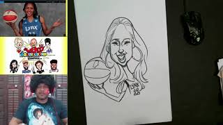How to Draw Caricature Maya Moore