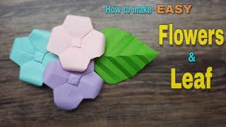 You will need Paper size 7x7 cm. For Flowers and Leaf ใช้กระดาษสี ขนาด 7x7 cm. นะคะ #Origami #flowers #แม่รุ่งสอนพับกระดาษ