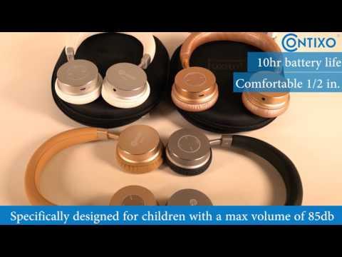 contixo-kb200-kids-bluetooth-headphones-demonstrational-video