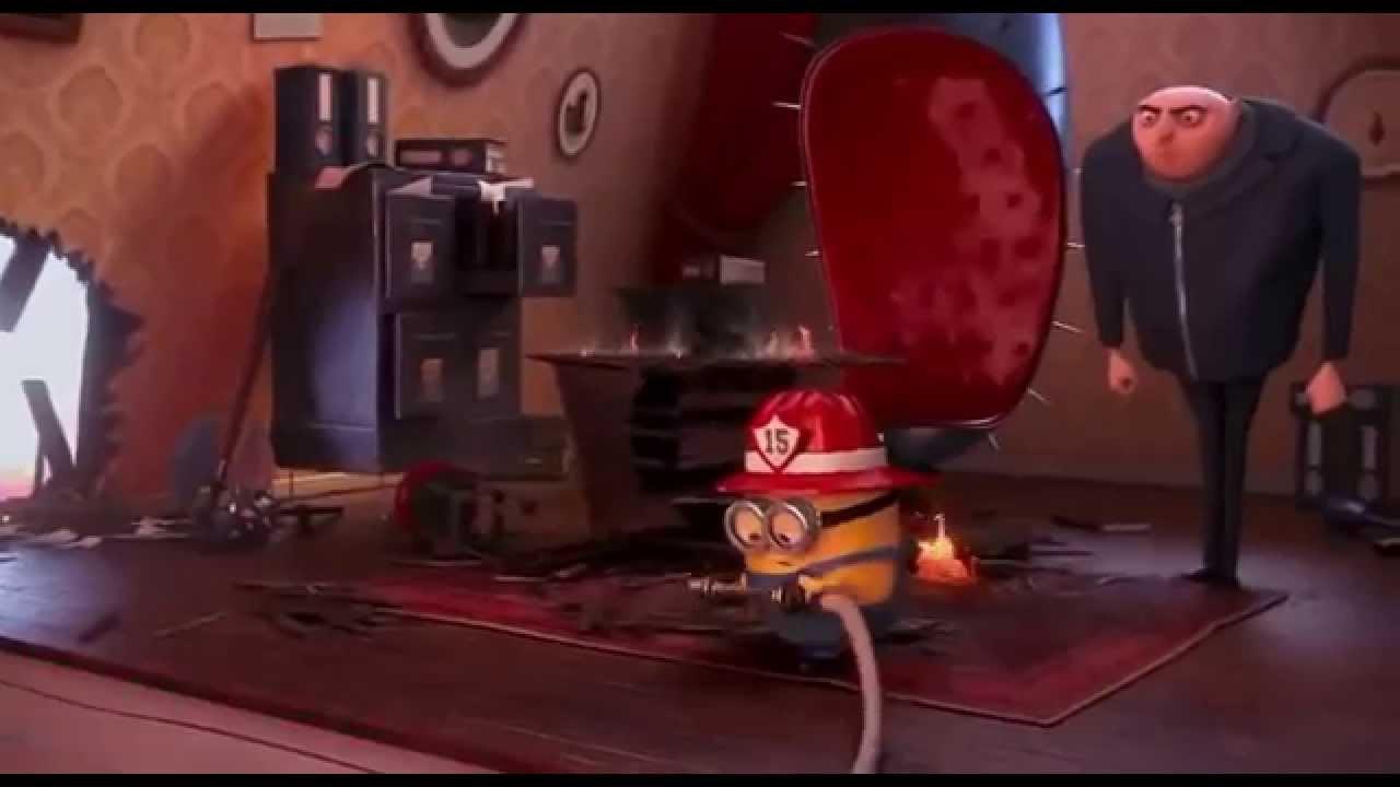 Moi moche et m chant 2 minions pompier scene youtube - Minion pompier ...