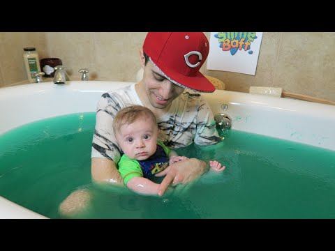 Dad And Baby In A Slime Bath Youtube