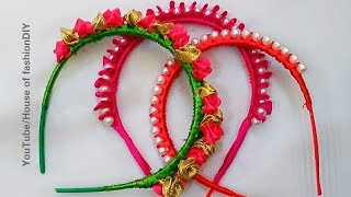 3 DIY Hair Bands for Littile  Girls||Silk thread Hair Bands||Ribbon Hair Bands..!