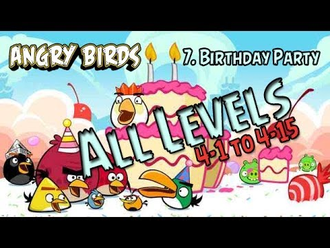 Angry Birds Birdday Party 4 Walkthrough Levels 41 to 415 3