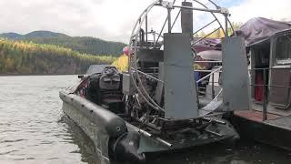 Вот на таких плав средствах передвигаются по реке Енисей