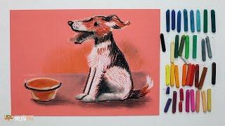 """Курс рисования """"Сухая пастель"""" Начинающие. Урок 4-5. Собака."""