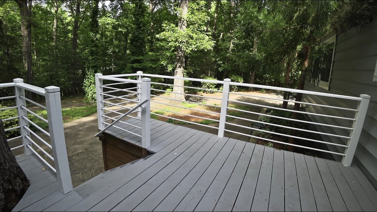 How To Inexpensive Porch Rail Renovation Using Pvc Pipe