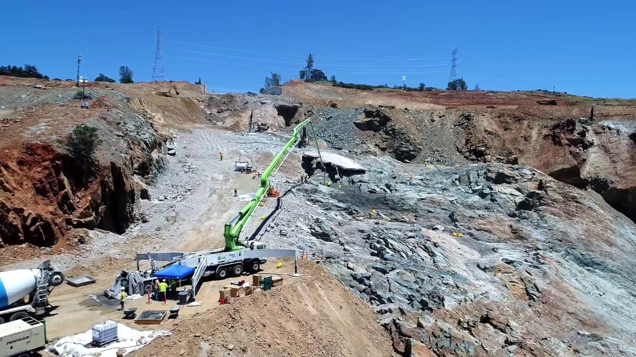 Image result for Oroville Spillway Construction Tour
