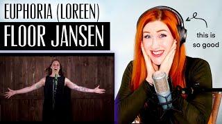 VOICE COACH REACTS | Floor Jansen... EUPHORIA (Loreen, Eurovision)... | this is RIDICULOUSLY good.