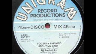 Bill Fredericks - Too Busy Thinking About My Baby - 83.wmv