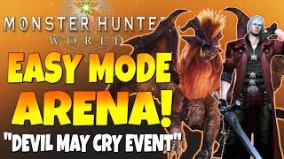"""Monster Hunter World - Code Red """"Devil May Cry"""" (Event)...Easiest Arena Quest Ever!!! - #MHW"""