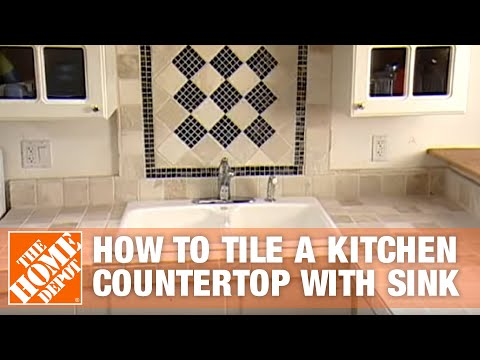 wood kitchen countertops with sink how to tile a kitchen countertop with sink part 1 the home depot
