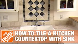 How to Tile a Kitchen Countertop with Sink Part 1 - The Home Depot thumbnail