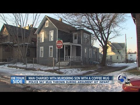Canton man charged with killing infant son with coffee mug