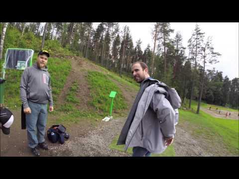 Disc Golfing in Jyvaskyla