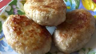 Котлеты Домашние. Из мяса Индейки и Свинины. Видео Рецепт/Turkey meatballs and pork