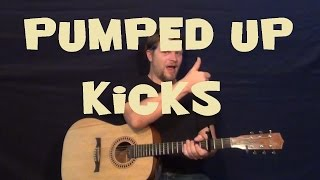 Pumped Up Kicks (Foster the People) - Easy Strum Guitar Lesson - Em-G-D-A How to Play