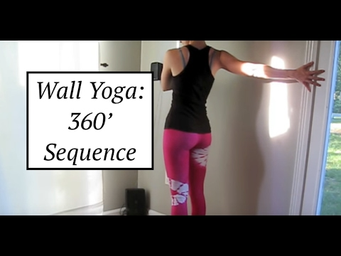 Wall Yoga: Standing 360 degree sequence - LauraGYOGA