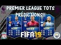 FIFA 19 PREMIER LEAGUE TOTS PREDICTIONS!! FEAT. VAN DIJK, AGUERO, HAZARD ETC.. (TOTS)