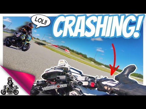 Crashing the Grom at the racetrack!