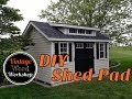 Building a Shed Pad on a Budget by Hand. DIY How to