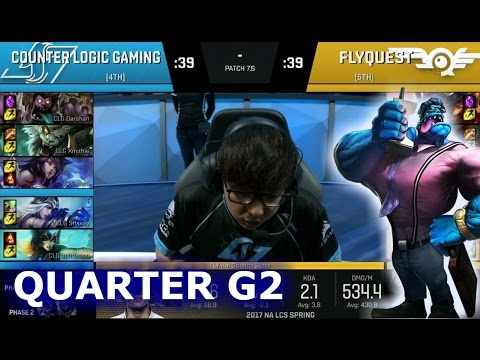 CLG vs FlyQuest Game 2 | Quarter Finals S7 NA LCS Spring 2017 PlayOffs | CLG vs FLY G2 QF 1080p