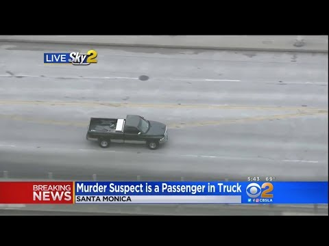 LIVE LAPD PURSUIT - Murder Suspect - Santa Monica - Started in Encino 'Woodland Hills'