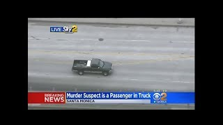 LIVE LAPD PURSUIT - Murder Suspect - Santa Monica - Started in Encino