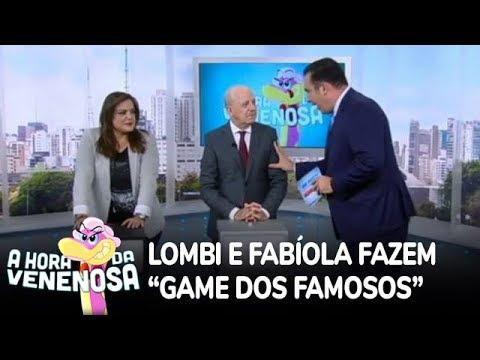 Lombi e Fabíola adivinham profissões dos famosos antes da fama