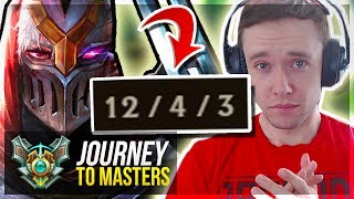 THE ZED HARD CARRY IS BACK?..TIME FOR MASTERS?! Journey To Masters | League of Legends