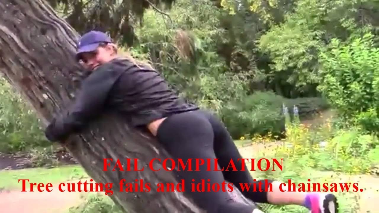FAIL COMPILATION - Tree cutting fails and idiots with chainsaws
