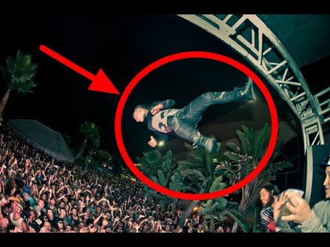 Jazz Cartier Jumping Off A Roof At Mural Festival?!