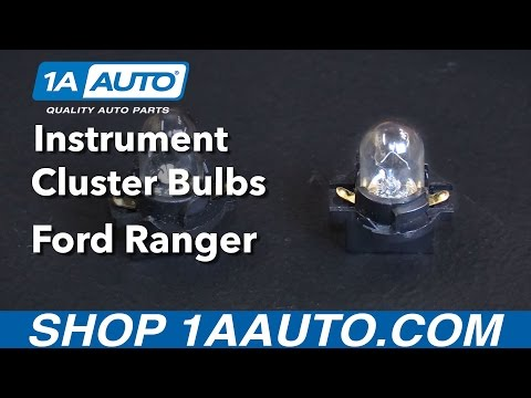 How To Replace Instrument Cluster Bulbs 93-03 Ford Ranger