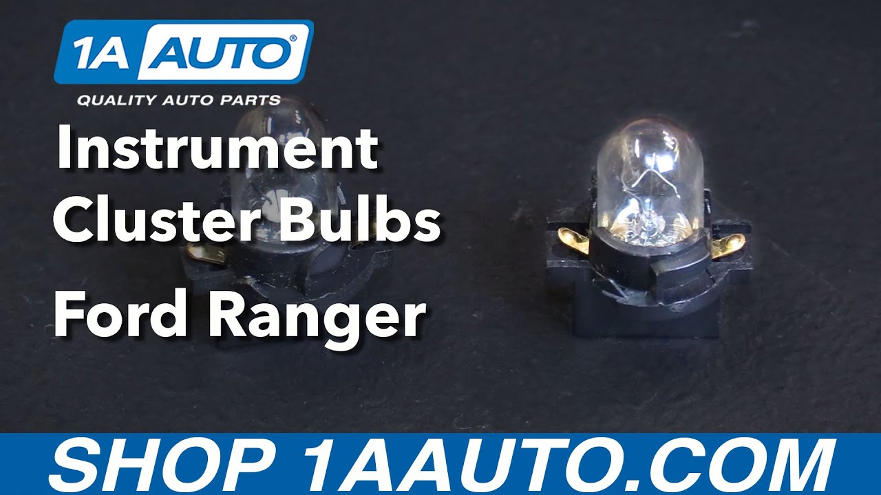 how to replace instrument cluster bulbs 93 03 ford ranger [ 1280 x 720 Pixel ]