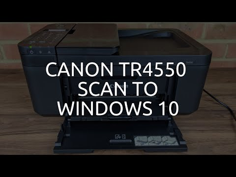Canon TR4550 Scan To Windows 10
