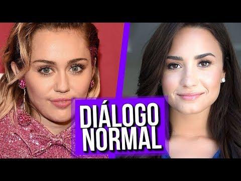 Diálogo Normal Demi Lovato e Miley Cyrus