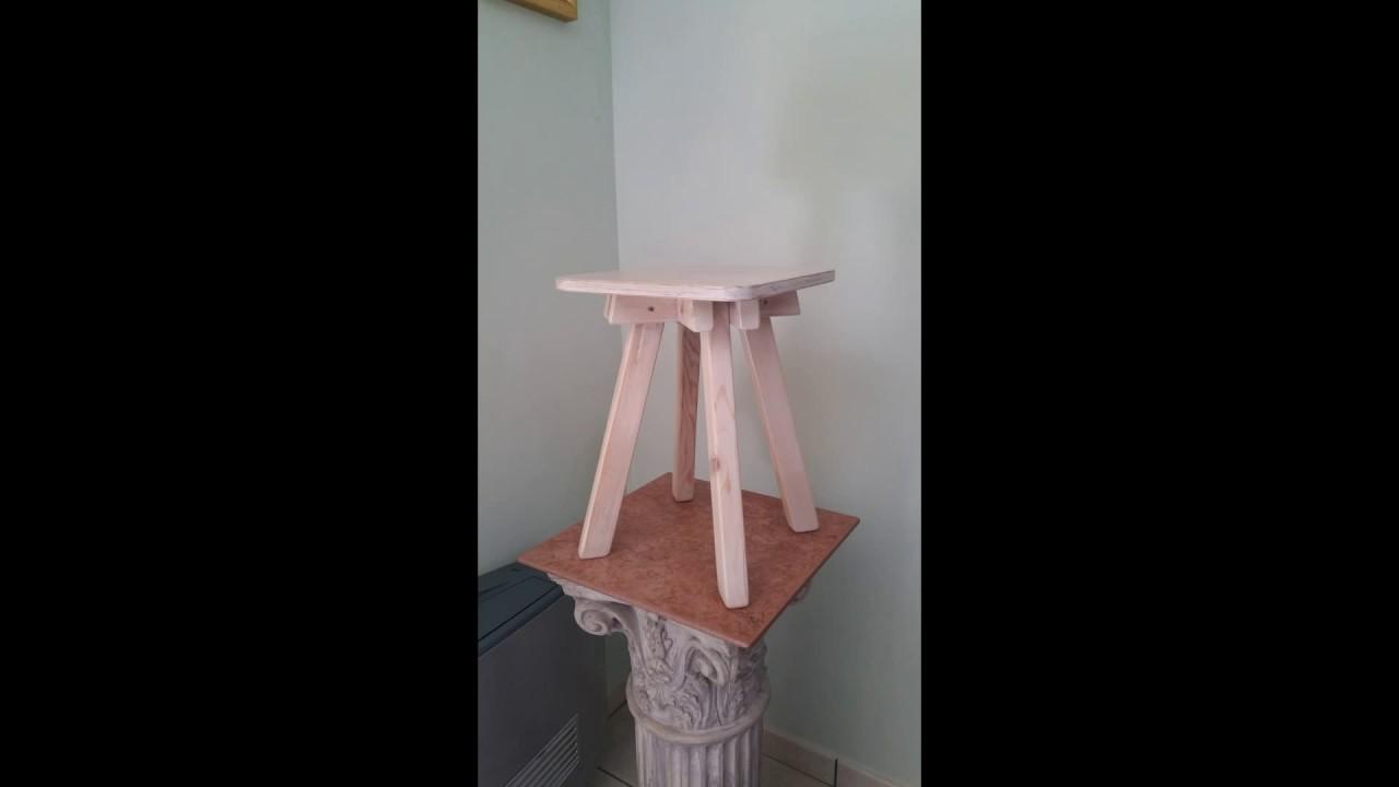 Realizzazione di uno sgabello in legno by steelwood youtube